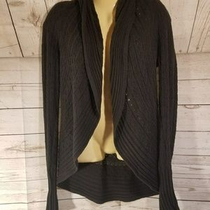 Maurices Black Open Front Cardigan